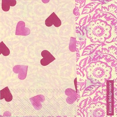 Cocktail Servietten Pink Hearts,  Ereignisse - Liebe,  Sonstiges -  Sonstiges,  Everyday,  cocktail servietten,  Herzen,  Ornamente,  Liebe