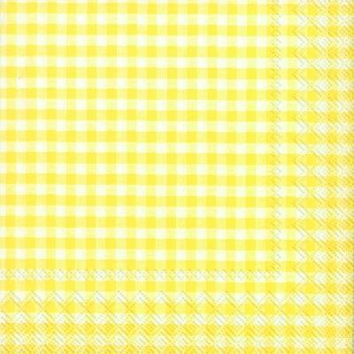 Lunch Servietten Vichy,  Sonstiges - Muster,  Everyday,  lunchservietten,  gelb,  Karos