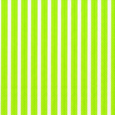 Servietten 33 x 33 cm,  Sonstiges - Muster,  Everyday,  lunchservietten,  Linien,  Streifen,  grün