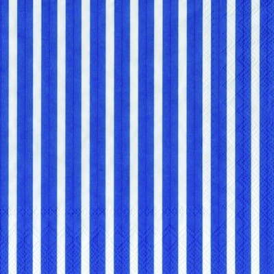 Lunch Servietten Stripes again dark blue,  Sonstiges - Muster,  Everyday,  lunchservietten,  Linien,  Streifen,  blau