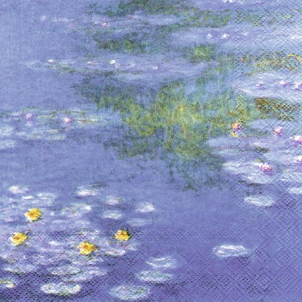 20 Servietten - 33 x 33 cm MONET : WATERLILIES                     ,  Sonstiges - Bilder / Gemälde,  Everyday,  lunchservietten,  Monet,  Seerosen