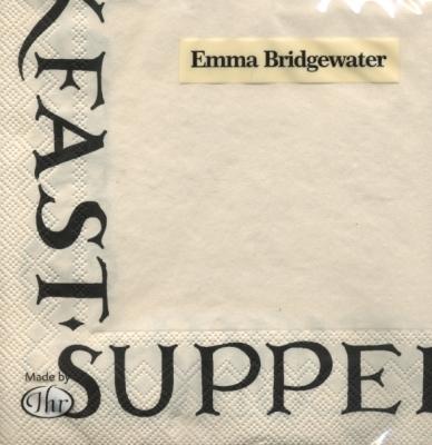 Emma Bridgewater,  Sonstiges - Schriften,  Everyday,  lunchservietten,  Schriften