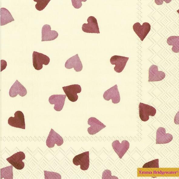 Servietten 25 x 25 cm,  Ereignisse - Liebe,  Everyday,  lunchservietten,  Herzen