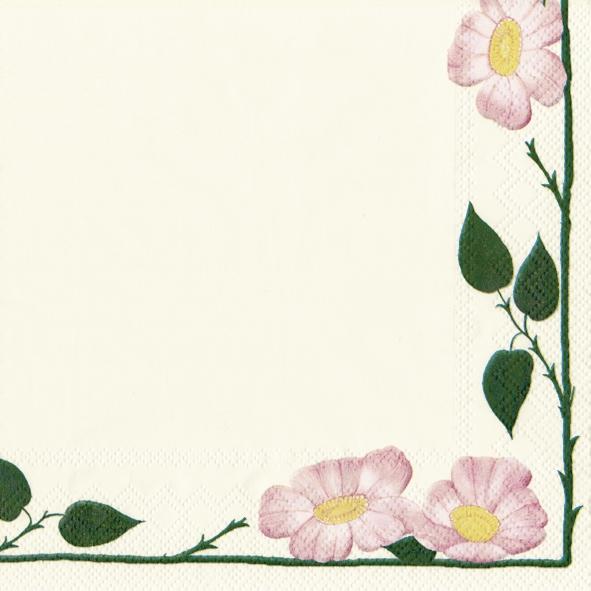 20 Servietten - 33 x 33 cm V&B Wildrose,  Blumen - Rosen,  Sonstiges - Porzellanmotive,  Everyday,  lunchservietten,  V&B Wildrose
