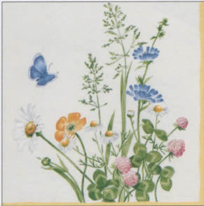 20 Servietten - 33 x 33 cm V&B My Garden,  Blumen -  Sonstige,  Sonstiges - Porzellanmotive,  Everyday,  lunchservietten,  V&B My Garden