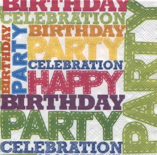 IHR Ideal Home Range,  Sonstiges - Schriften,  Ereignisse - Geburtstag,  Everyday,  lunchservietten,  Geburtstag,  Party
