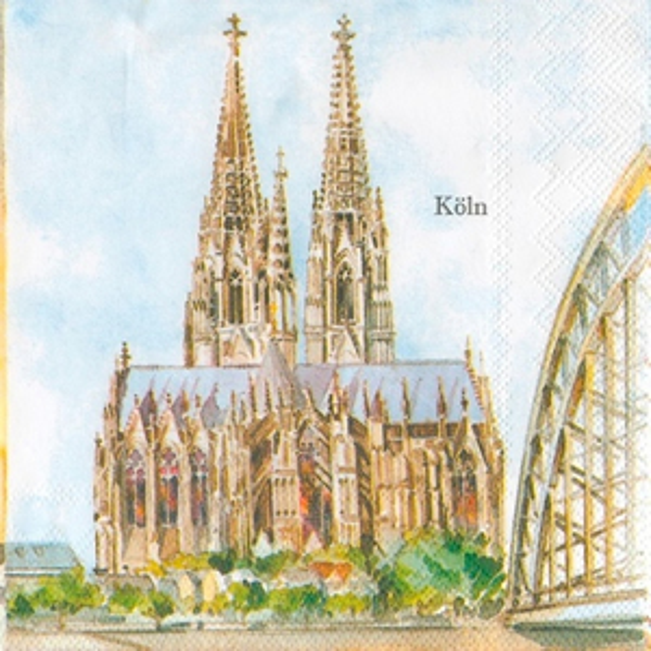 Lunch Servietten KÖLN                                    ,  Regionen - Länder - Städte,  Everyday,  lunchservietten,  Köln,  Kölner Dom
