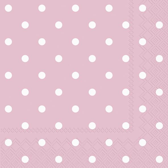 Servietten / Sonstiges,  Sonstiges -  Sonstiges,  Everyday,  lunchservietten,  Punkte,  rosa
