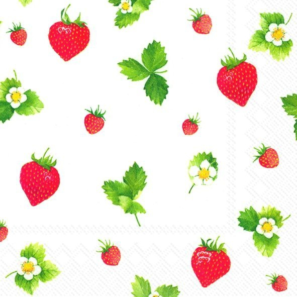 Lunch Servietten Sweet Strawberries,  Früchte - Erdbeeren,  Everyday,  lunchservietten,  Erdbeeren