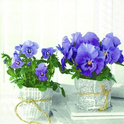 IHR Ideal Home Range,  Blumen - Stiefmütterchen,  Frühjahr,  lunchservietten,  Stiefmütterchen
