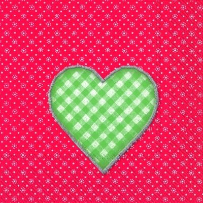 Lunch Servietten LOVELY DOTTY red green