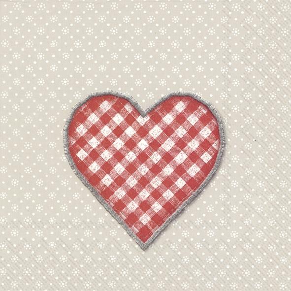 Lunch Servietten LOVELY DOTTY linen red,  Ereignisse - Liebe,  Weihnachten,  lunchservietten,  Liebe,  Herz,  rot