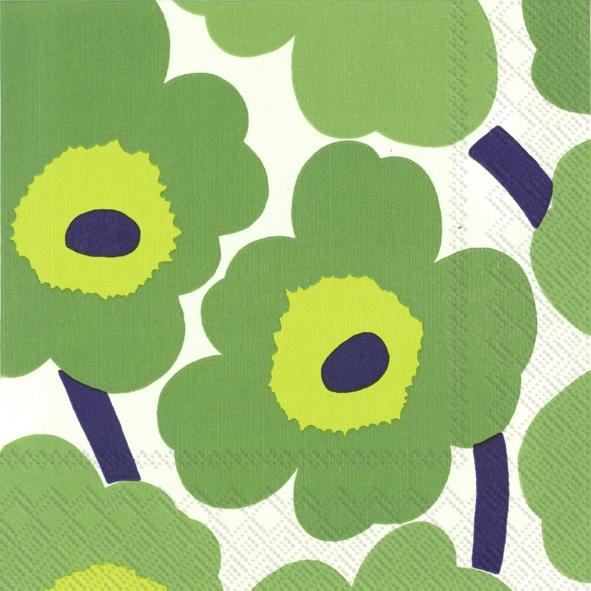 Lunch Servietten UNIKO green,  Blumen -  Sonstige,  Everyday,  lunchservietten,  Blumen
