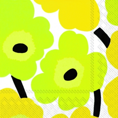 Lunch Servietten Unikko yellow,  Blumen -  Sonstige,  Everyday,  lunchservietten,  Blumen