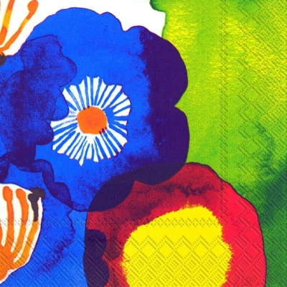 Marimekko FI,  Blumen -  Sonstige,  Everyday,  lunchservietten,  Blumen