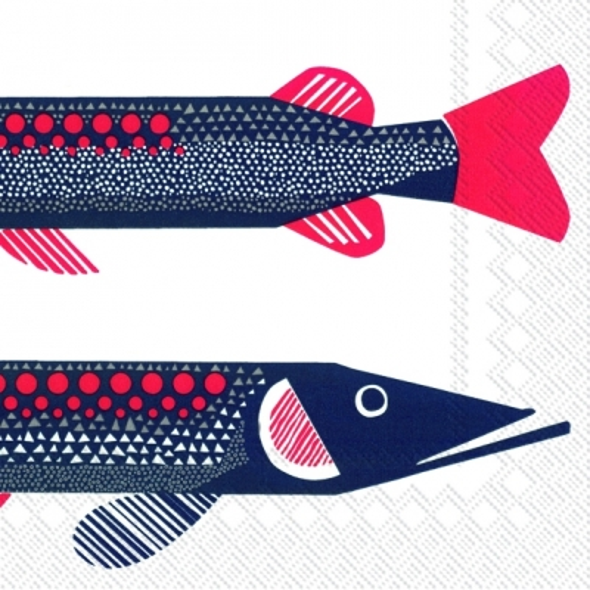 Lunch Servietten Hauki,  Tiere - Fische,  Essen - Fisch,  Everyday,  lunchservietten,  Fische
