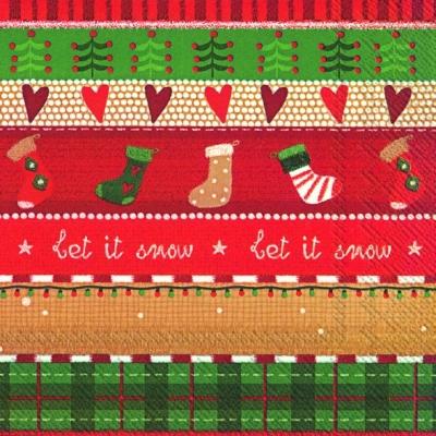 Servietten / Schriften,  Sonstiges - Muster,  Sonstiges - Schriften,  Weihnachten,  lunchservietten,  Muster