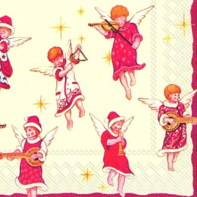 Lunch Servietten ANGELS CONCERT,  Weihnachten - Engel,  Weihnachten,  lunchservietten,  Engel