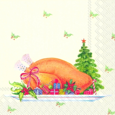 Lunch Servietten TRADITIONAL DINNER,  Essen -  Sonstiges,  Weihnachten,  lunchservietten,  Weihnachtsessen