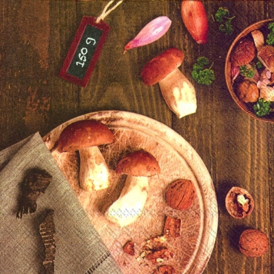Everyday,  Früchte - Pilze,  Everyday,  lunchservietten,  Pilze