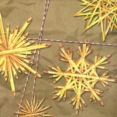 Lunch Servietten STARS OF STRAW