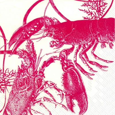 Lunch Servietten LOBSTER,  Essen - Krebse / Krabben,  Everyday,  lunchservietten,  Krabben