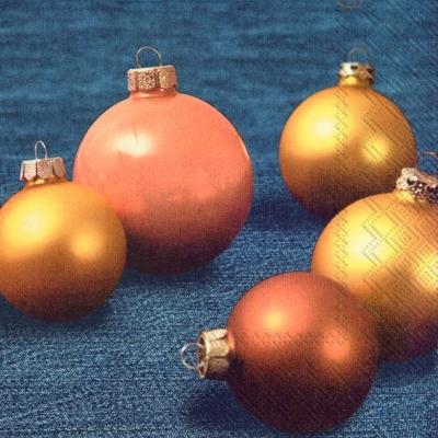 Lunch Servietten DENIM CHRISTMAS,  Weihnachten - Baumschmuck,  Weihnachten,  lunchservietten,  Baumkugeln