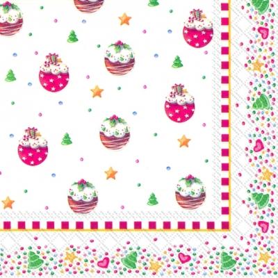 Lunch Servietten WINTER BAKERY V & B,  Essen - Kuchen / Keks,  Weihnachten - Weihnachtsbaum,  Weihnachten,  lunchservietten,  Herzen,  Kuchen,  Sterne