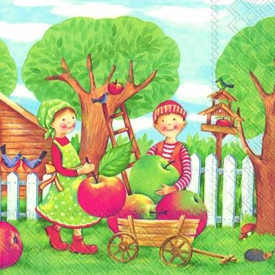 IHR Ideal Home Range,  Früchte - Äpfel,  Everyday,  lunchservietten,  Äpfel,  Jungen,  Mädchen,  Garten