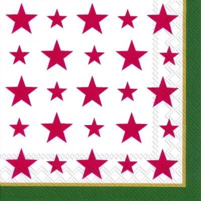 Servietten 25 x 25 cm ,  Weihnachten - Sterne,  Weihnachten,  lunchservietten,  Sterne