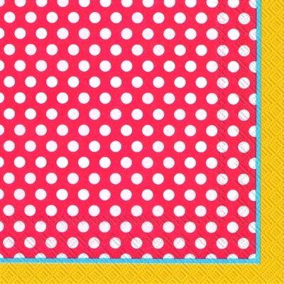 Lunch Servietten TOP DOTS red yellow