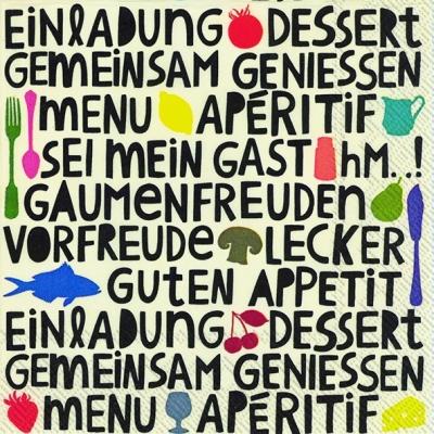 Everyday,  Sonstiges - Schriften,  Everyday,  lunchservietten,  Schriften