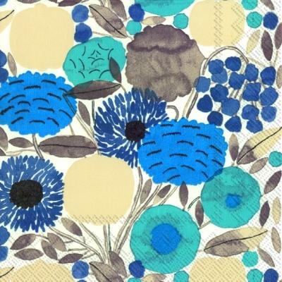 Lunch Servietten SITRUUNAPUU blue,  Blumen -  Sonstige,  Everyday,  lunchservietten,  Blumen