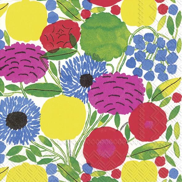 Lunch Servietten SITRUUNAPUU pink,  Blumen -  Sonstige,  Everyday,  lunchservietten,  Blumen