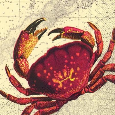 Lunch Servietten RED CRAB,  Tiere -  Sonstige,  Everyday,  lunchservietten,  Krabben