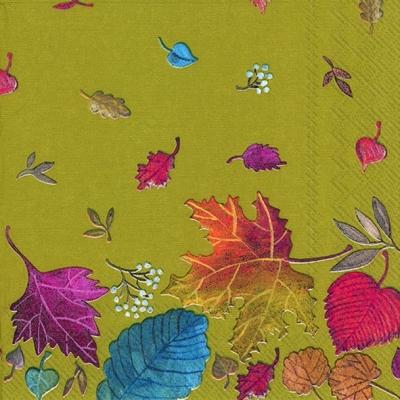 Servietten 33 x 33 cm,  Herbst - Blätter / Laub,  Everyday,  lunchservietten,  Blätter