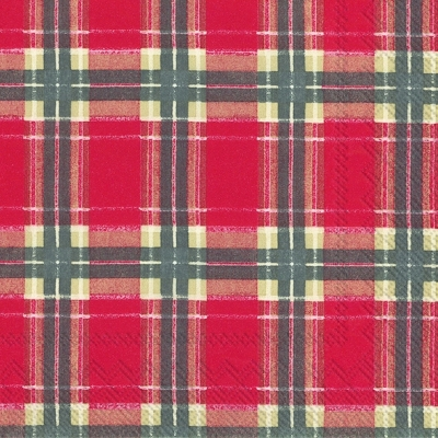 Lunch Servietten FLANNEL CHECK red,  Sonstiges - Muster,  Weihnachten,  lunchservietten,  Karos