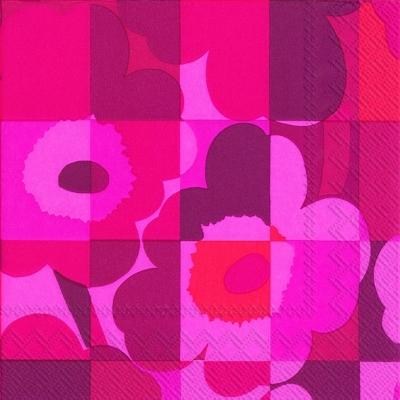 Lunch Servietten MINI-RUUTU-UNIKKO red,  Blumen -  Sonstige,  Everyday,  lunchservietten,  Muster,  Blumen