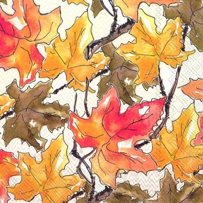 Lunch Servietten FALL LEAVES,  Herbst - Blätter / Laub,  Herbst,  lunchservietten,  Blätter