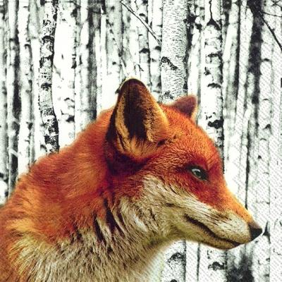 Servietten Tiermotive,  Tiere -  Sonstige,  Weihnachten,  lunchservietten,  Birke,  Fuchs