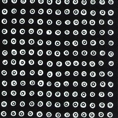 Lunch Servietten KARAKOLA black,  Sonstiges - Muster,  Everyday,  lunchservietten,  Kreise,  Punkte