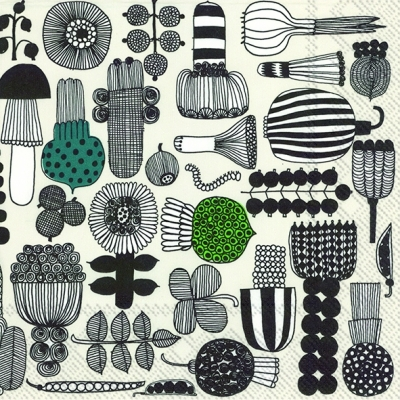 Servietten 33 x 33 cm,  Gemüse -  Sonstiges,  Essen -  Sonstiges,  Everyday,  lunchservietten,  Blätter,  Zwiebel,  Gemüse