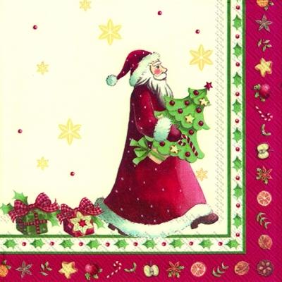 Villeroy & Boch,  Winter - Kristalle / Flocken,  Weihnachten - Weihnachtsbaum,  Weihnachten - Weihnachtsmann,  Weihnachten,  lunchservietten,  Geschenke,  Weihnachtsbaum,  Weihnachtsmann