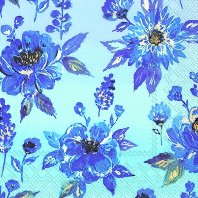 Servietten 33 x 33 cm,  Blumen -  Sonstige,  Everyday,  lunchservietten,  Blumen