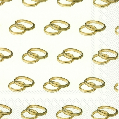 Lunch Servietten RINGS gold,  Ereignisse - Hochzeit,  Everyday,  lunchservietten,  Hochzeit,  Goldene Hochzeit