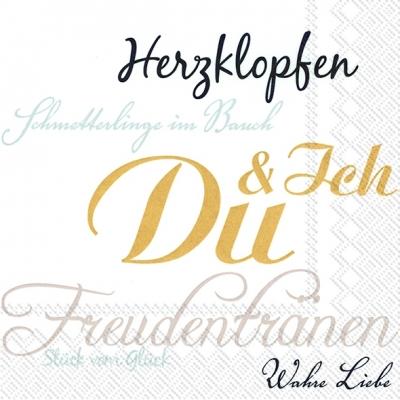IHR Ideal Home Range,  Ereignisse - Liebe,  Sonstiges - Schriften,  Everyday,  lunchservietten,  Schriften,  Liebe