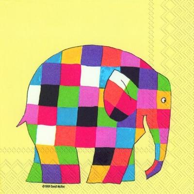Servietten nach Jahreszeiten,  Tiere - Elefanten,  Everyday,  lunchservietten,  Elefant