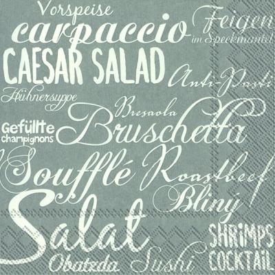 Lunch Servietten MITEINANDER ESSEN grey,  Essen -  Sonstiges,  Sonstiges - Schriften,  Everyday,  lunchservietten,  Schriften
