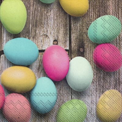 Lunch Servietten PASTEL COLORED EGGS,  Ostern - Ostereier,  Ostern,  lunchservietten,  Ostereier
