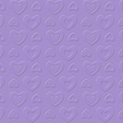 Servietten zum Thema Liebe,   geprägte Servietten,  Ereignisse - Liebe,  Everyday,  lunchservietten,  Herzen,  lila